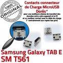 Samsung Galaxy TAB E SM-T561 USB inch à Micro de Dock SM T561 Connecteur ORIGINAL Chargeur charge Pins souder 9 Connector Prise Dorés