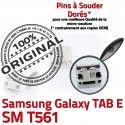 Samsung Galaxy TAB E SM-T561 USB Dock Chargeur ORIGINAL Prise 9 inch T561 SM charge Dorés Connector de souder Micro à Connecteur Pins