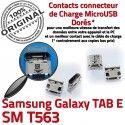 TAB E SM T563 USB Samsung Galaxy Dock SM-T563 Chargeur TAB-E de Dorés à MicroUSB Prise Connector ORIGINAL Pins Fiche Qualité souder charge SLOT