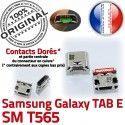 TAB E SM T565 USB Samsung Galaxy Pins à Chargeur ORIGINAL Connector Prise TAB-E SM-T565 SLOT charge Dorés souder Qualité MicroUSB de Fiche Dock