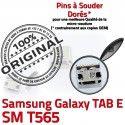 TAB E SM T565 USB Samsung Galaxy ORIGINAL souder Pins de MicroUSB Fiche charge Qualité Prise TAB-E Chargeur Connector Dock à Dorés SLOT SM-T565