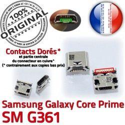 Pins Prise Qualité SM Charge de USB ORIGINAL Core souder charge G361 Dorés Chargeur Connector SM-G361 à Galaxy Prime Connecteur Micro Samsung