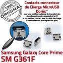 Samsung Prime SM G361F Micro USB de Fiche Prise Pins charge MicroUSB Chargeur SM-G361F Qualité ORIGINAL à Galaxy Connector souder Core Dorés Dock