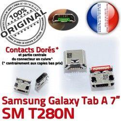 SM souder 7 Connecteur Tab Prise Samsung Galaxy A de à TAB Dock USB ORIGINAL T280N Pins Dorés Chargeur inch Connector Micro charge