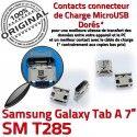 Samsung Galaxy Tab-A SM-T285 USB TAB-A Pins Prise Dorés ORIGINAL à SLOT Connector Dock Fiche charge de Chargeur MicroUSB souder Qualité