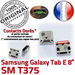 Pins 8 Prise TAB E Connecteur à Galaxy Micro charge Connector T375 Chargeur Samsung Tab souder SM Dock de ORIGINAL Dorés USB inch
