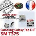 Samsung Galaxy Tab E T375 USB à souder Connector charge Prise TAB Chargeur de ORIGINAL inch Dorés Connecteur Micro 8 SM Pins Dock