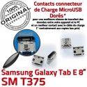 Samsung Galaxy Tab E T375 USB ORIGINAL à 8 Connector Dorés Chargeur TAB charge inch Prise Dock souder Connecteur SM Micro Pins de