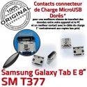Samsung Galaxy Tab-E SM-T377 USB souder Fiche Qualité de Dock SLOT ORIGINAL charge Connector Prise Dorés MicroUSB TAB-E Chargeur Pins à
