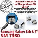 Samsung Galaxy Tab-A SM-T350 USB Fiche ORIGINAL Dorés TAB-A Connector charge Chargeur SLOT Qualité à Prise Dock souder de Pins MicroUSB