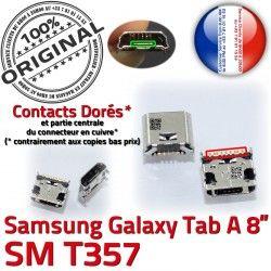 ORIGINAL de à Prise Samsung Pins 8 Galaxy SM Chargeur Tab TAB USB Connecteur charge Connector A Dorés inch Dock Micro T357 souder