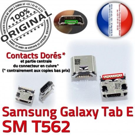 Samsung Galaxy TAB E SM-T562 USB SM de inch à Micro Dock Prise 9 Connector souder ORIGINAL Chargeur T562 Pins Dorés charge Connecteur