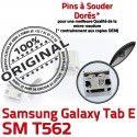 Samsung Galaxy TAB E SM-T562 USB Connector Pins souder Dorés Micro SM charge inch Dock Chargeur à de ORIGINAL T562 Connecteur Prise 9