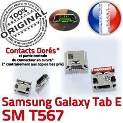 Galaxy inch E Dorés Micro Dock Prise 9 Connecteur Pins souder de Connector SM charge USB T567 SM-T567 à ORIGINAL Samsung Chargeur TAB