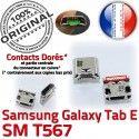 Samsung Galaxy TAB E SM-T567 USB charge Micro Connector inch Connecteur Pins à Chargeur souder SM ORIGINAL Dock T567 9 de Prise Dorés
