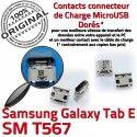Samsung Galaxy TAB E SM-T567 USB Connecteur Chargeur souder 9 Prise Dorés Connector ORIGINAL de charge à T567 inch Micro Pins Dock SM