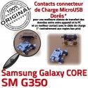 Samsung Core SM-G350 USB Charge souder Qualité charge Connecteur Chargeur Pins de Galaxy G350 à Plus ORIGINAL Connector Dorés SM Micro Prise