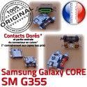 Samsung Core SM G355 Micro USB charge souder Galaxy de Dock SM-G355 à Qualité Pins Dorés 2 Prise Fiche PORT Connector ORIGINAL Chargeur