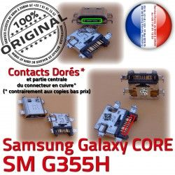 Core Qualité Fiche ORIGINAL Micro 2 Pins PORT souder Chargeur USB Dock à SM Samsung G355H Galaxy SM-G355H Prise Dorés Connector de charge