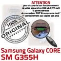 Samsung Core SM G355H Micro USB de souder SM-G355H PORT ORIGINAL à Dorés Fiche Dock Galaxy Qualité Chargeur 2 Prise Connector Pins charge