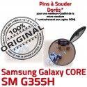 Samsung Core SM-G355H USB Charge Micro Chargeur souder Qualité Dorés Connecteur de Connector charge 2 PORT ORIGINAL Galaxy Pins SM G355H à Prise