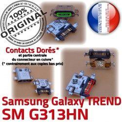 charge ORIGINAL Dock SM-G313HN G313HN MicroUSB Pins Chargeur Connector SM S Samsung USB de Prise Galaxy Micro Fiche à Dorés Qualité souder TREND DUOS