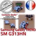 TREND S DUOS SM G313HN Micro USB Prise Dorés Fiche Qualité Pins Connector Samsung Galaxy SM-G313HN ORIGINAL Chargeur MicroUSB à de charge souder Dock