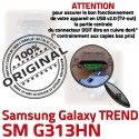 TREND S DUOS SM G313HN Micro USB Fiche Samsung Dorés Dock à Pins charge MicroUSB Connector ORIGINAL Galaxy Qualité de souder SM-G313HN Chargeur Prise