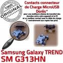 TREND S DUOS SM G313HN Micro USB ORIGINAL Qualité Galaxy Prise Pins Fiche de SM-G313HN Chargeur Samsung Dock Dorés souder Connector à charge MicroUSB