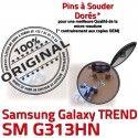 TREND DUOS SM-G313HN USB Charge Pins G313HN ORIGINAL SM Galaxy souder Qualité Dorés Samsung Connecteur Prise charge Chargeur à de Connector Micro