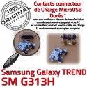 TREND S DUOS SM G313H Micro USB Chargeur Dorés Samsung Galaxy Prise à Fiche SM-G313H charge souder Dock de MicroUSB Qualité Connector ORIGINAL Pins