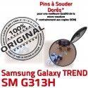 TREND S DUOS SM G313H Micro USB Dorés Dock Connector SM-G313H ORIGINAL de Samsung Pins Chargeur Qualité Fiche souder MicroUSB Galaxy à Prise charge