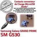 GRAND PRIME SM-G530 USB Charge Galaxy Connecteur Micro Samsung G530 de Connector souder à ORIGINAL Qualité charge Chargeur Doré SM Prise