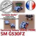 GRAND PRIME SM-G530FZ USB Charge Micro Doré G530FZ ORIGINAL à Connector Samsung Chargeur Connecteur Galaxy SM souder charge de Qualité Prise