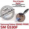 GRAND PRIME SM G530F Micro USB Chargeur SM-G530F Fiche Pins Qualité charge de MicroUSB Prise Connector Dock Samsung souder Galaxy ORIGINAL Dorés à