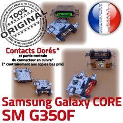 SM Prise Galaxy Samsung charge ORIGINAL Fiche Plus SM-G350F Dock Micro Qualité Chargeur MicroUSB de USB souder Pins Core G350F Dorés Connector à