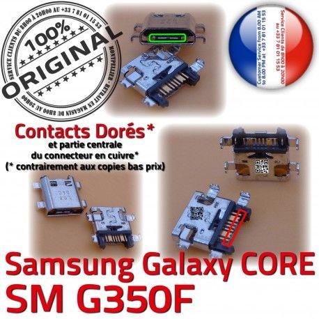 Samsung Core SM G350F Micro USB Galaxy Prise souder Dorés MicroUSB Dock charge SM-G350F Pins Plus Chargeur ORIGINAL de Connector Qualité à Fiche