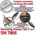 SM-T805 Micro USB TAB-S Charge T805 Galaxy Qualité Dorés Lecteur Connecteur S Samsung SD Chargeur de Réparation ORIGINAL Nappe Contacts TAB SM