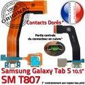 Samsung Galaxy TAB S SM-T807 Ch Doré USB Qualité SD Lecteur Connecteur Charge Micro Port ORIGINAL de Prise Chargeur Mémoire Nappe TAB-S