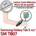 Samsung Galaxy TAB S SM-T807 Ch Doré Prise USB Micro TAB-S ORIGINAL Port Chargeur Connecteur Mémoire Qualité SD de Charge Lecteur Nappe