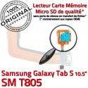 Samsung Galaxy TAB S SM-T805 Ch Port de SD Charge Qualité Prise Connecteur Mémoire Micro ORIGINAL Nappe Lecteur Doré Chargeur USB TAB-S