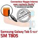 SM-T805 Micro USB TAB-S Carte SD de Nappe S T805 SM PORT Galaxy Chargeur Lecteur Charge Mémoire Qualité TAB Connecteur ORIGINAL Samsung