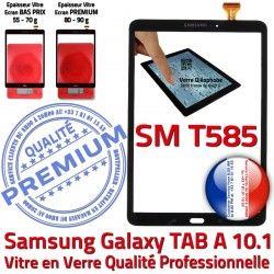 10.1 T585 SM Tactile aux Résistante Galaxy en A Noir Ecran N PREMIUM Qualité Supérieure TAB Verre Noire Chocs TAB-A SM-T585 Vitre Samsung