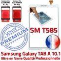 Samsung Galaxy TAB A SM-T585 B Qualité Résistante T585 SM Blanc aux Verre en Supérieure Ecran PREMIUM 10.1 TAB-A Tactile Chocs Blanche Vitre