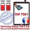 Galaxy TAB E SM-T561 Vitre Noir Adhésif Tactile PREMIUM Supérieure Assemblée TAB-E SM Ecran Prémonté Noire Verre T561 9.6 Samsung Qualité