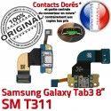 Samsung Galaxy TAB 3 SM-T311 Ch Qualité Charge Connecteur Chargeur de Contacts Dorés ORIGINAL Réparation Nappe TAB3 OFFICIELLE MicroUSB