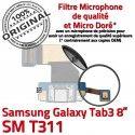 Samsung Galaxy TAB 3 SM-T311 Ch de Chargeur Contacts Réparation OFFICIELLE ORIGINAL TAB3 Nappe MicroUSB Qualité Connecteur Dorés Charge