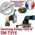 Samsung Galaxy TAB 3 SM-T315 Ch MicroUSB TAB3 Réparation Contacts Qualité Chargeur de Dorés Charge OFFICIELLE Connecteur Nappe ORIGINAL