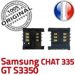 OR à SIM 335 GT Lecteur Card SLOT ORIGINAL Dorés Connector Samsung S Chat souder Pins Carte Reader Contacts s3350 Prise Connecteur