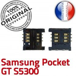 à Reader Galaxy Lecteur GT s5300 souder Pins Dorés Connector ORIGINAL OR Pocket SLOT Contacts S Connecteur Carte SIM Samsung Card